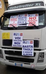 Protesta anche il camion