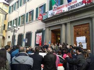 Protesta dei dipendenti della Provincia