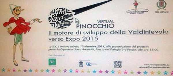 """""""VIRTUAL PINOCCHIO"""", MOTORE DI SVILUPPO VERSO 'EXPO 2015'"""