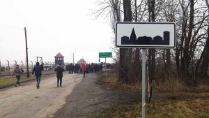 Arrivo a Birkenau [foto Marco Ferrari]