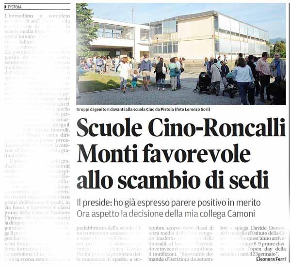 SCAMBIO CINO-RONCALLI: SCENE DA COMMEDIA DEGLI EQUIVOCI