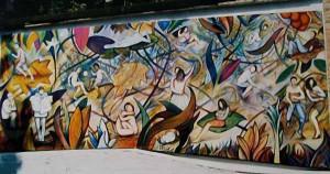 Il murale realizzato per il Parco del bargo (2000)
