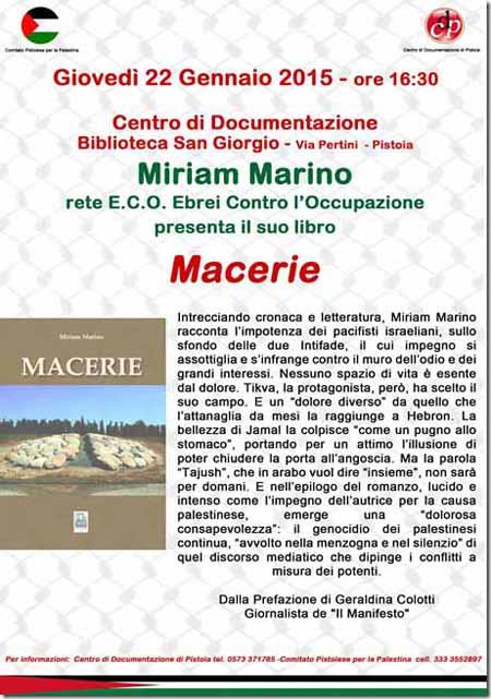 "LE ""MACERIE"" DI MIRIAM MARINO"