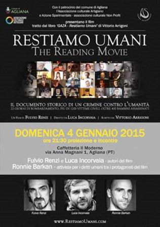 «RESTIAMO UMANI», AGLIANA INCONTRA GLI AUTORI DEL FILM