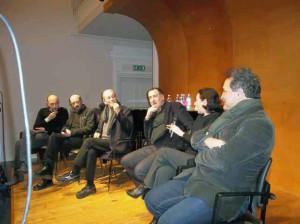 Il cast del Giuoco delle parti in conferenza