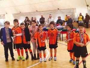 La formazione degli Under 8 vincitrice del torneo