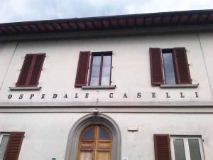 La facciata dell'ex Ospedale Caselli