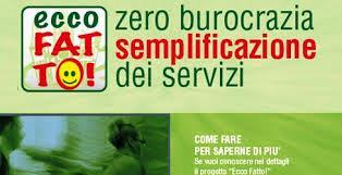 """comuni & servizi. AVANTI CON """"ECCO FATTO"""" E """"BOTTEGHE DELLA SALUTE"""""""
