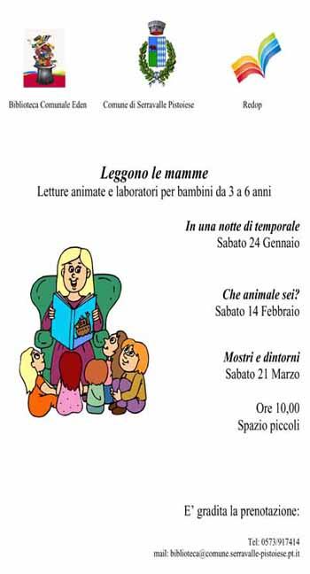 "CASALGUIDI, ALLA BIBLIOTECA EDEN ""LEGGONO LE MAMME"""