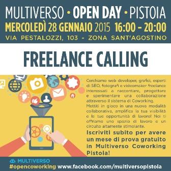 """FREELANCE CALLING: """"MULTIVERSO PISTOIA"""" APRE AL NETWORKING"""