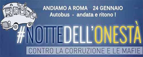 """A ROMA CON I 5 STELLE PER """"LA NOTTE DELL'ONESTÀ"""""""