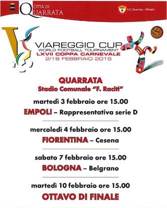 'VIAREGGIO CUP', QUATTRO PARTITE ALLO STADIO RACITI