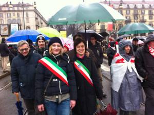 I Sindaci Francesca Vernetto di Mattie, e Chiara Borgis di Bruzolo