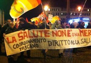 Una manifestazione del Coordinamento Toscano
