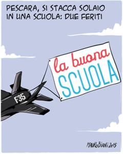 La buona scuola di Renzi, vignetta Mauro Biani