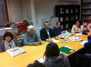 Da destra: Silvia Biagini e i due candidati Vito Tommaso e Paolo Tosi