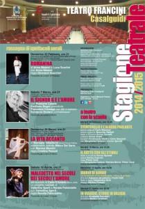 Il programma del Teatro Francini 2015