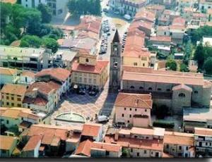 Foto aerea del centro di Agliana