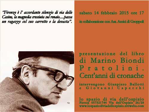 """PRATOLINI E I CENT'ANNI DELLE SUE """"CRONACHE"""""""