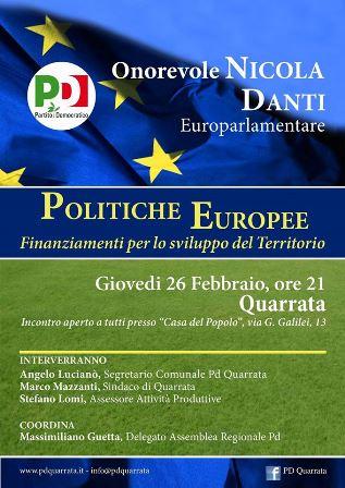 POLITICHE ECONOMICHE EUROPEE E FINANZIAMENTI PER IL TERRITORIO
