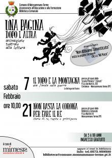 """""""UNA PAGINA DOPO L'ALTRA"""", IL PROGRAMMA DI FEBBRAIO"""