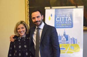 Elena Becheri con il sindaco Samuele Bertinelli