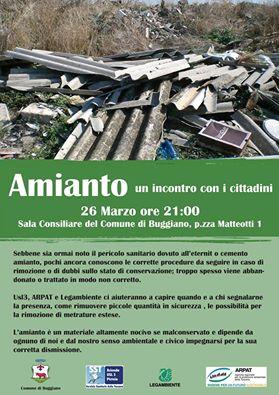 AMIANTO. A BUGGIANO UN INCONTRO CON I CITTADINI