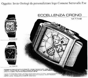 Il modello degli orologi fatti acquistare da Bolognini