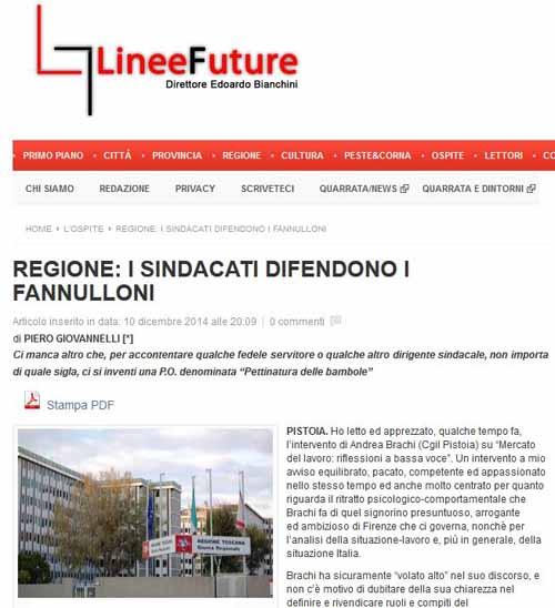 UIL-REGIONE: «I SINDACATI DIFENDONO I FANNULLONI? NON È VERO!»