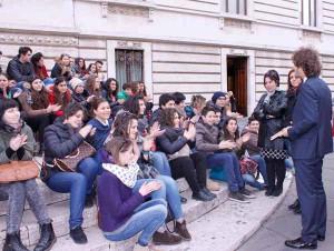 Ragazzi di San Marcello alla Camera con l'On. Fanucci