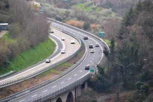 Un tratto dell'A-11 a Serravalle