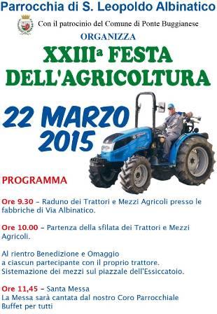 XXIII FESTA DELL'AGRICOLTURA A PONTE BUGGIANESE