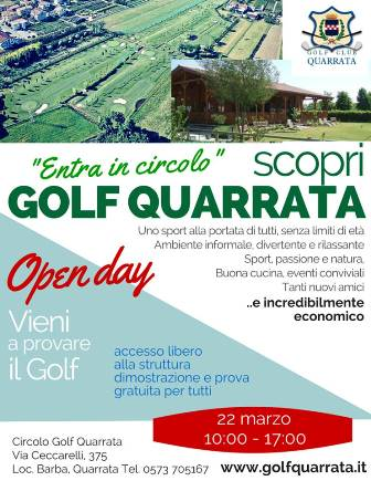 "QUARRATA, IL GOLF ""ENTRA IN CIRCOLO"""