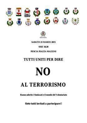 IN PIAZZA PER DIRE NO AL TERRORISMO