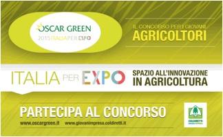 """AGRICOLTURA E GIOVANI, """"OSCAR GREEN 2015"""" NEL SEGNO DELL'EXPO"""
