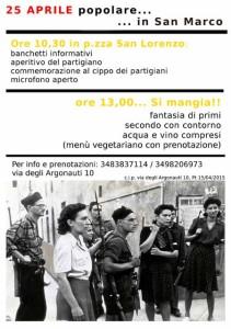 Liberazione partigiani 25 aprile. Liliana Cecchi