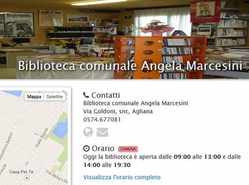 """INCONTRI ALLA BIBLIOTECA """"MARCESINI"""" DI AGLIANA"""