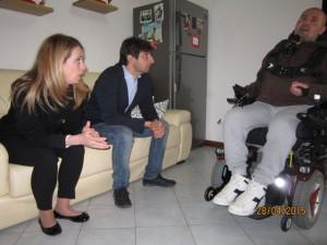 Anche Donzelli è stato presente alla visita ad Agliana dell'On. Meloni.