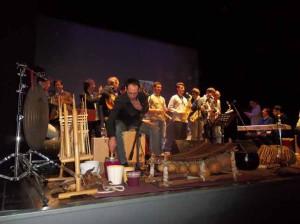 I musicisti a fine concerto