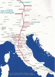Il percorso della Via Romea Imperiale