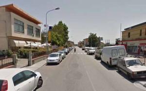 La zona dello Sperone. Via Fiorentina