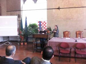 Monika Dobrowolska, vedova Mancini a palazzo comunale