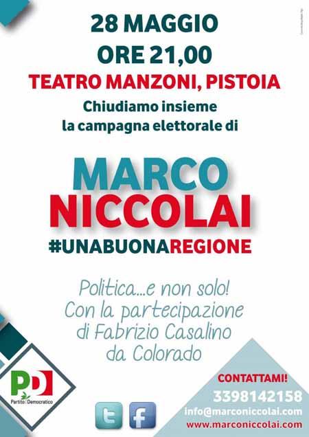 FESTA DI CHIUSURA CAMPAGNA ELETTORALE DI MARCO NICCOLAI