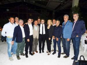Cena elettorale Pd. Foto di gruppo