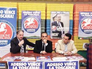 Cenni, Lamioni, Latrofa in conferenza stampa