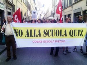 """Cobas contro """"La buona scuola"""". Firenze, 5 maggio 2015"""