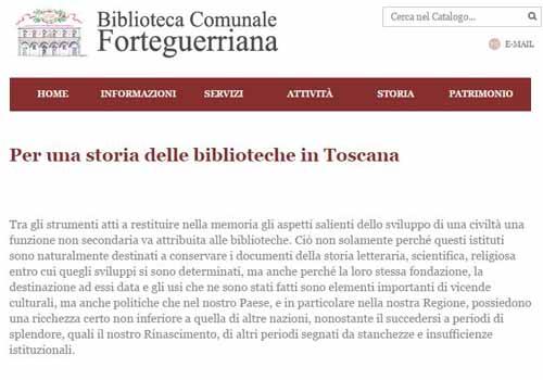 """""""PER UNA STORIA DELLE BIBLIOTECHE IN TOSCANA"""""""