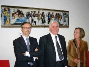 La direzione aziendale dell'Asl 3 Pistoia: Luca Cei, Roberto Abati, Lucia Turco