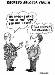 Sblocca Italia. Vignetta Giannellli