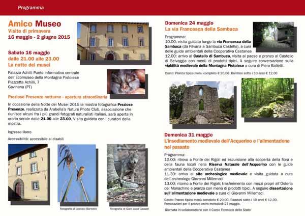 ECOMUSEO E AMICO MUSEO: TRE GIORNATE SULLA MONTAGNA